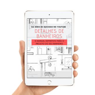 Em breve disponível para venda: E-book Detalhes de Banheiros