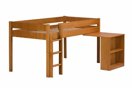 Cama com escrivaninha e cabaninha
