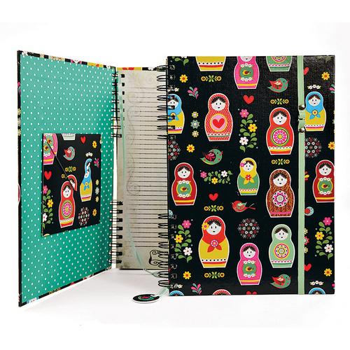 Caderno Estampado Matrioska Carpe Di