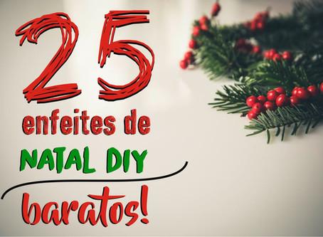 25 Enfeites de Natal DIY baratos!