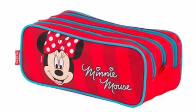 Estojo Minnie 3 Compartimentos