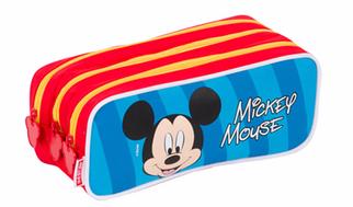 Estojo Mickey 3 Compartimentos Sesti