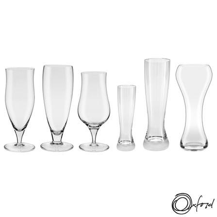 Conjunto de Copos e Taças para Cerveja em Cristal - Oxford. R$219,00