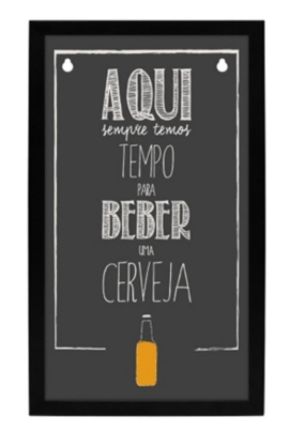 Quadro de Tampinhas - Tempo para Beber. R$99,90