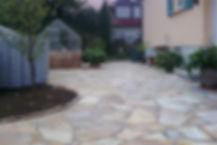 Polygonalplatten in Quarzit eine schöne Natursteinoptik