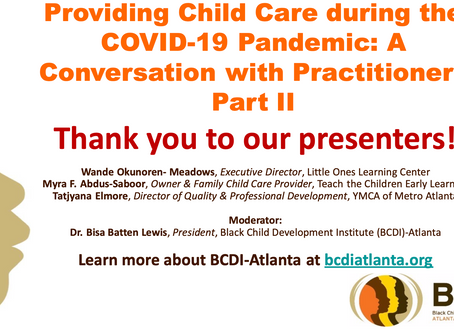 Providing Child Care during COVID-19 Part II