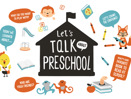 "August 2021 ""Talking Is Teaching"" Bundle: Let's Talk About Preschool"