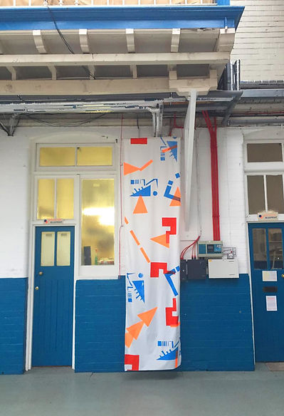 Screenprinted artist residency Leith Out of the Blueprint Lucy Grainge