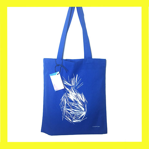 Pineapple tote bag blue + green