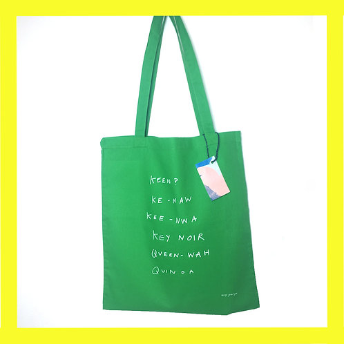 Queen Wah tote bag blue + green