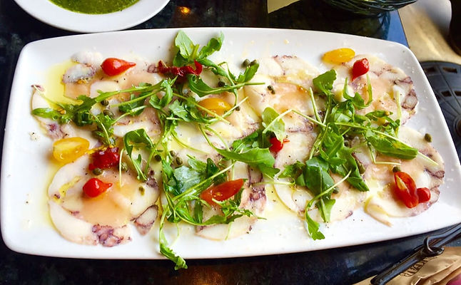 Chef Pirozzi makes a fresh Carpaccio in Laguna Beach, CA