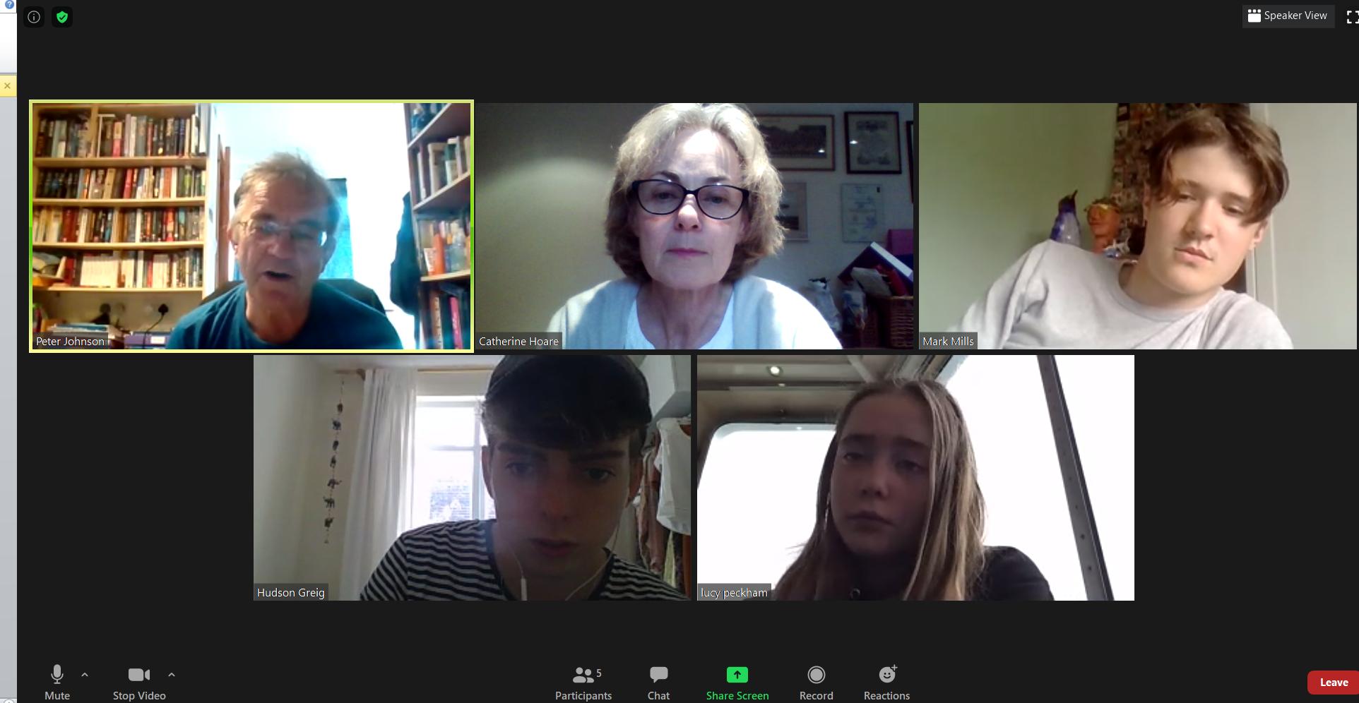2 Poetry Workshop group Aug 2020