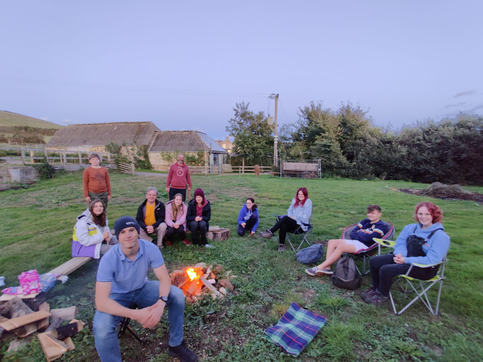 Attitude Youth Group Fire Pit Evening Se