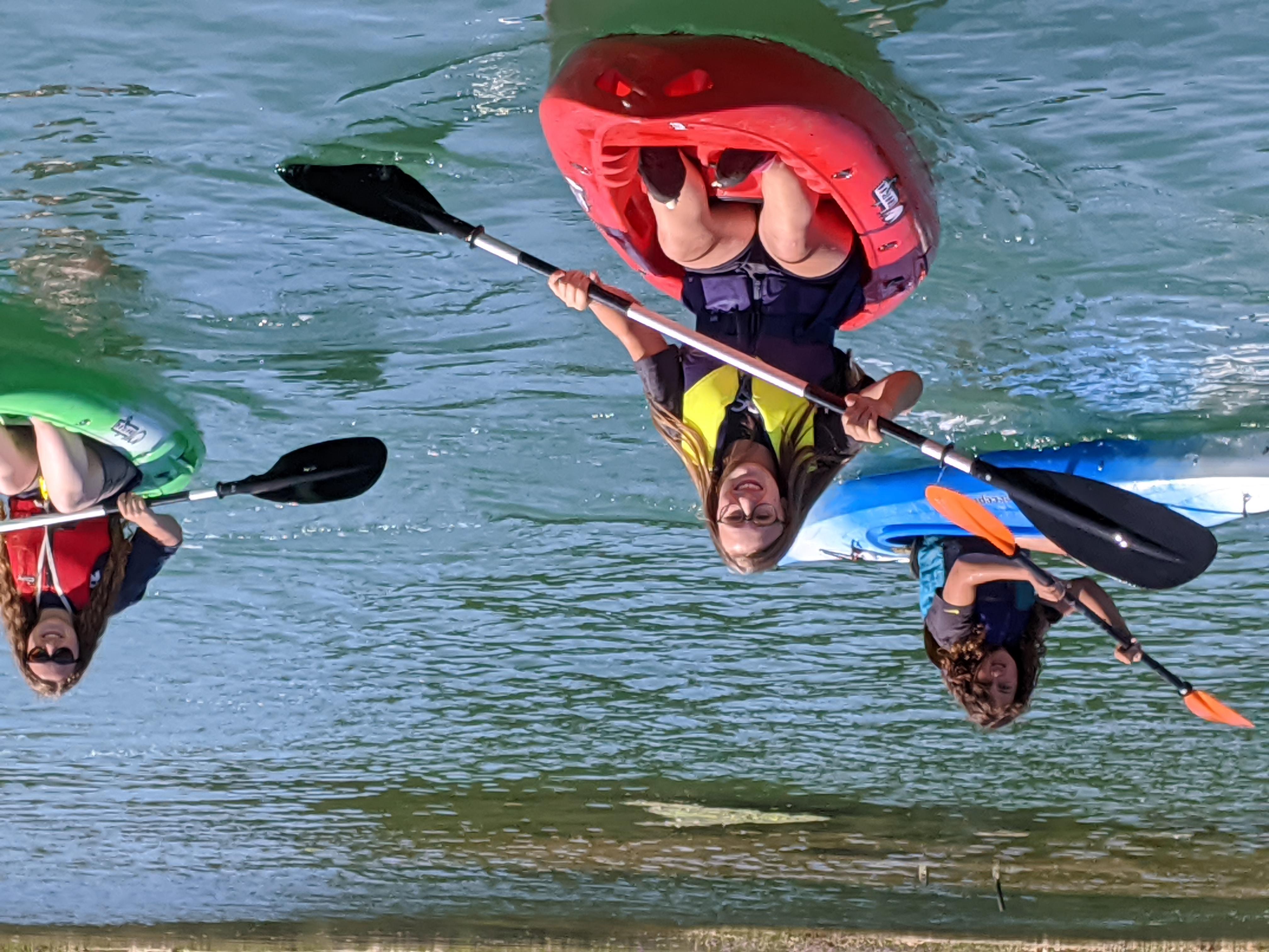 Kayaking Corf Camp July 2020