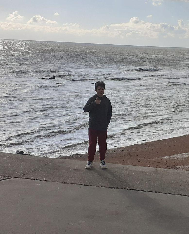 Noah D beach triathlon Feb 2021