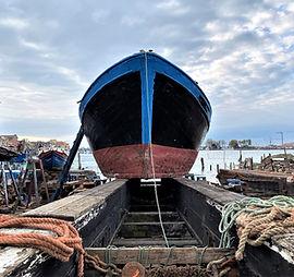 La Freccia Azzurra presso il cantiere Cimolin di Sottomarina.