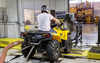 Chassis Dynamometer for ATV or Motorcycle at ESW America
