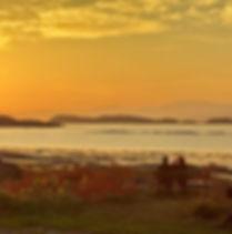 Coucher de soleil à l'Auberge des Dunes