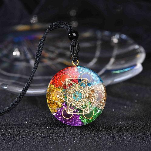 Orgonite Pendant Sri Yantra Necklace Sacred Geometry Chakra Meditation Jewelry