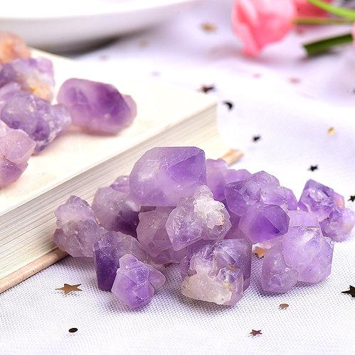 50/100g Natural Amethyst Raw Quartz Small Cluster Healing Stones