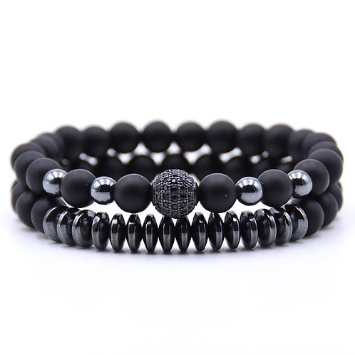 Beads Natural Stone Bracelets for Women Micro Pave