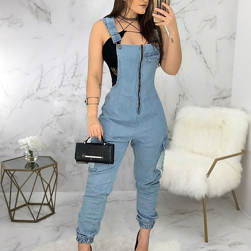 Rompers Overalls Female Streetwear Playsuit Women Pockets Jumpsuits 2021
