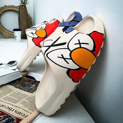 Indoor House Slippers Graffiti Casual Beach Slipper Elmo Quality Cartoon Shoes
