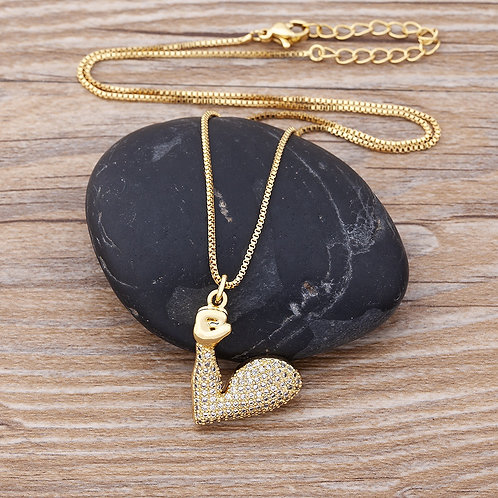 New Arrival Creativity Hand Zircon Pendants Gold Plated Necklace  Gift Ladies
