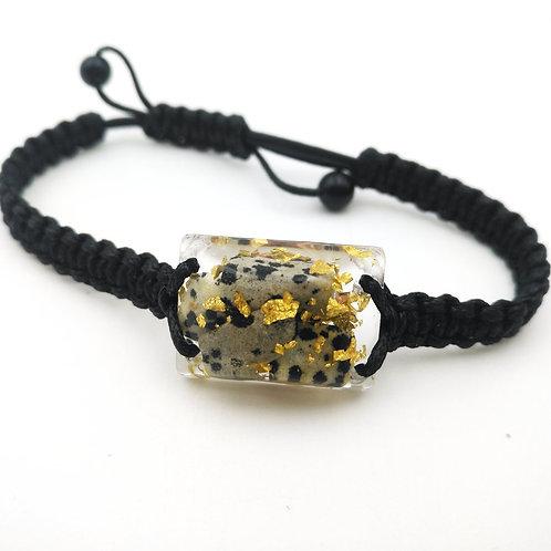 Dalmatian Jasper Orgonite (2.4cm X 1.8cm) Bracelet-Wealth,Meditation-Talisman