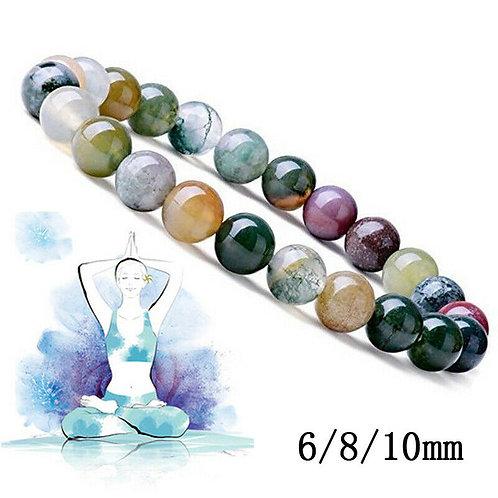 Transfer Luck 6 8 10 MM Natural Stone Beads Bracelet Amethysts Tiger Eye