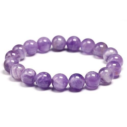 Natural Dream Amethysts Quartz Energy Light Purple GemStone Bracelet Women