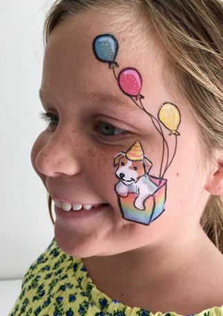 rainbow puppy with balloons.jpg