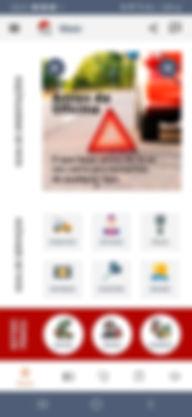 Tela inicial do app