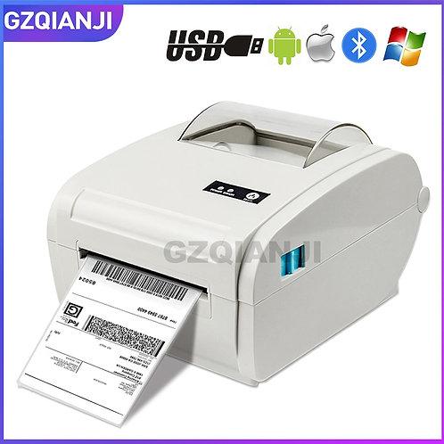 Impressora de etiquetas térmicas de 4 polegadas de alta velocidade USB Bluetooth