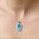 Thumbnail: Turquoise Hamsa Sterling Silver Necklace