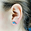 Thumbnail: Dolphine Earrings 925 Sterling Silver