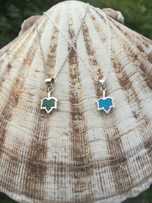 Maple Leaf Necklace 925 Sterling Silver
