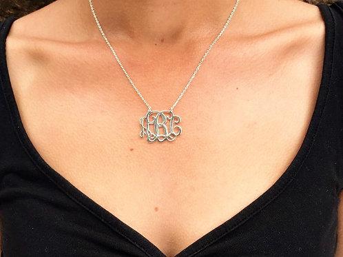 Handmade Personalised Monogram Necklace-925 Sterling Silver