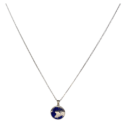 World Necklace 925 Sterling Silver