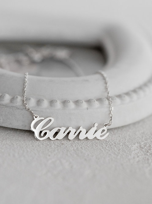 Carrie Style Name Necklace 925 sterling silver