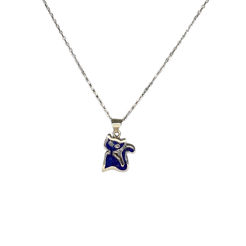 Cat Necklace 925 Sterling Silver
