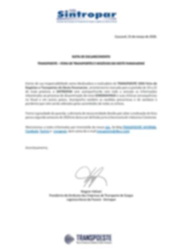 NOTA DE ESCLARECIMENTO - TRANSPOESTE 202