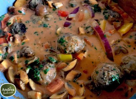 Andrea Foodcoach recept: Gehaktballetjes met stroganoff saus