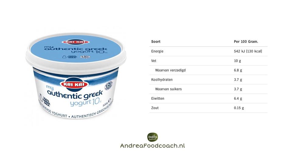 Griekse yoghurt Andrea Foodcoach