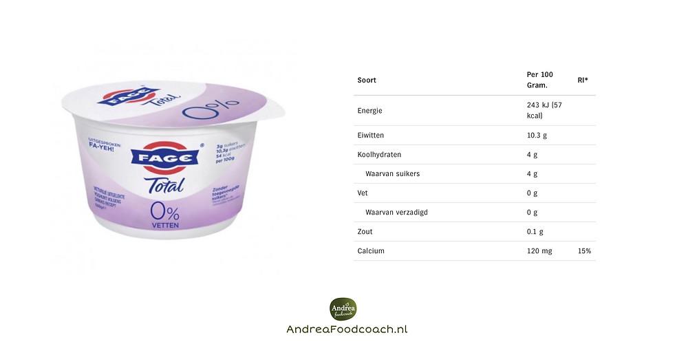 Griekse yoghurt 0% vet, Andrea Foodcoach