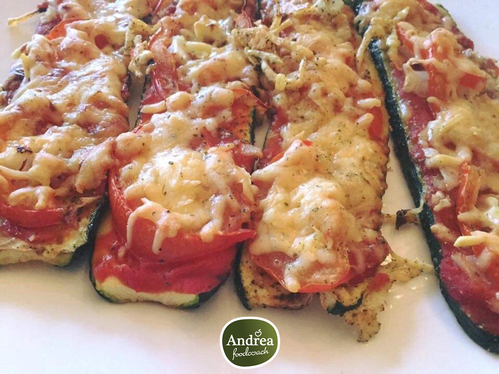 Courgette pizza, e-Power recept AndreaFoodcoach