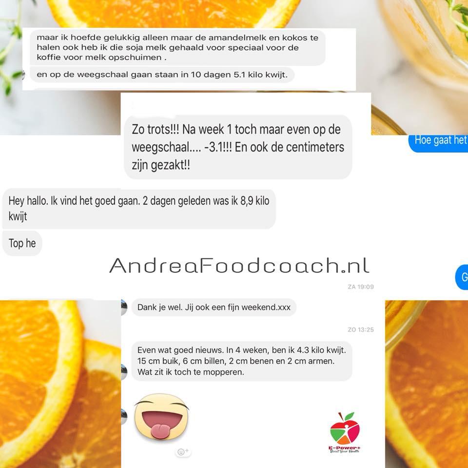 Reviews e-power programma Foodcoach Andrea