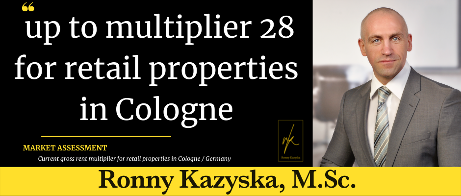 Top multiplier 28 for retail properties in Cologne