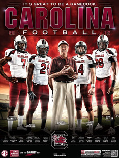South Carolina Football Poster