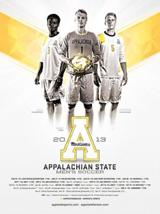 2013 Appalachian State Schedule Poster Template